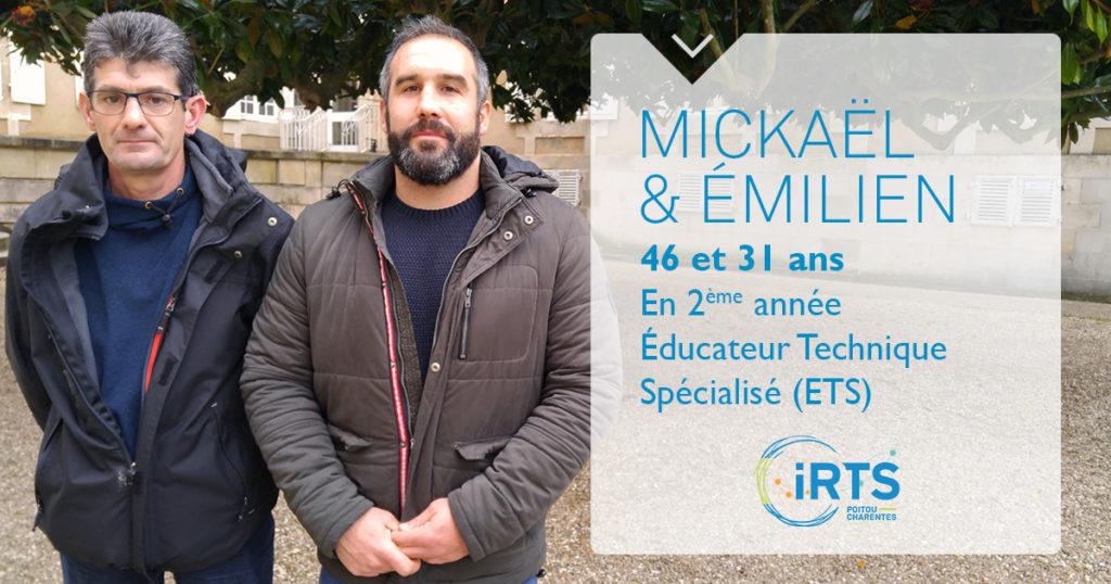 À la rencontre de nos étudiants : Émilien et Mickaël, en formation ETS