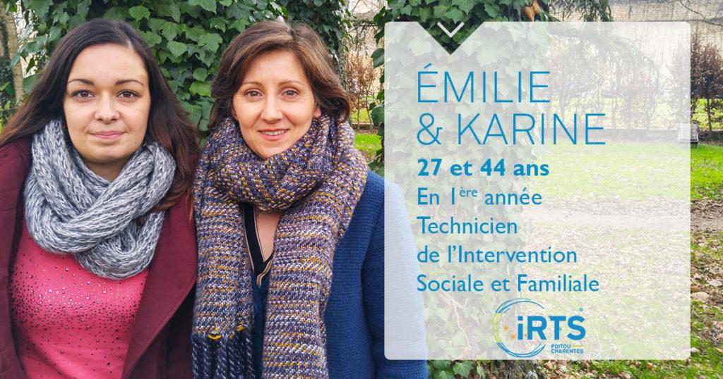 À la rencontre de nos étudiants : Émilie et Karine, en formation TISF